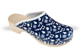 Women's Wooden clogs Anatomico - CD5 Navy/White